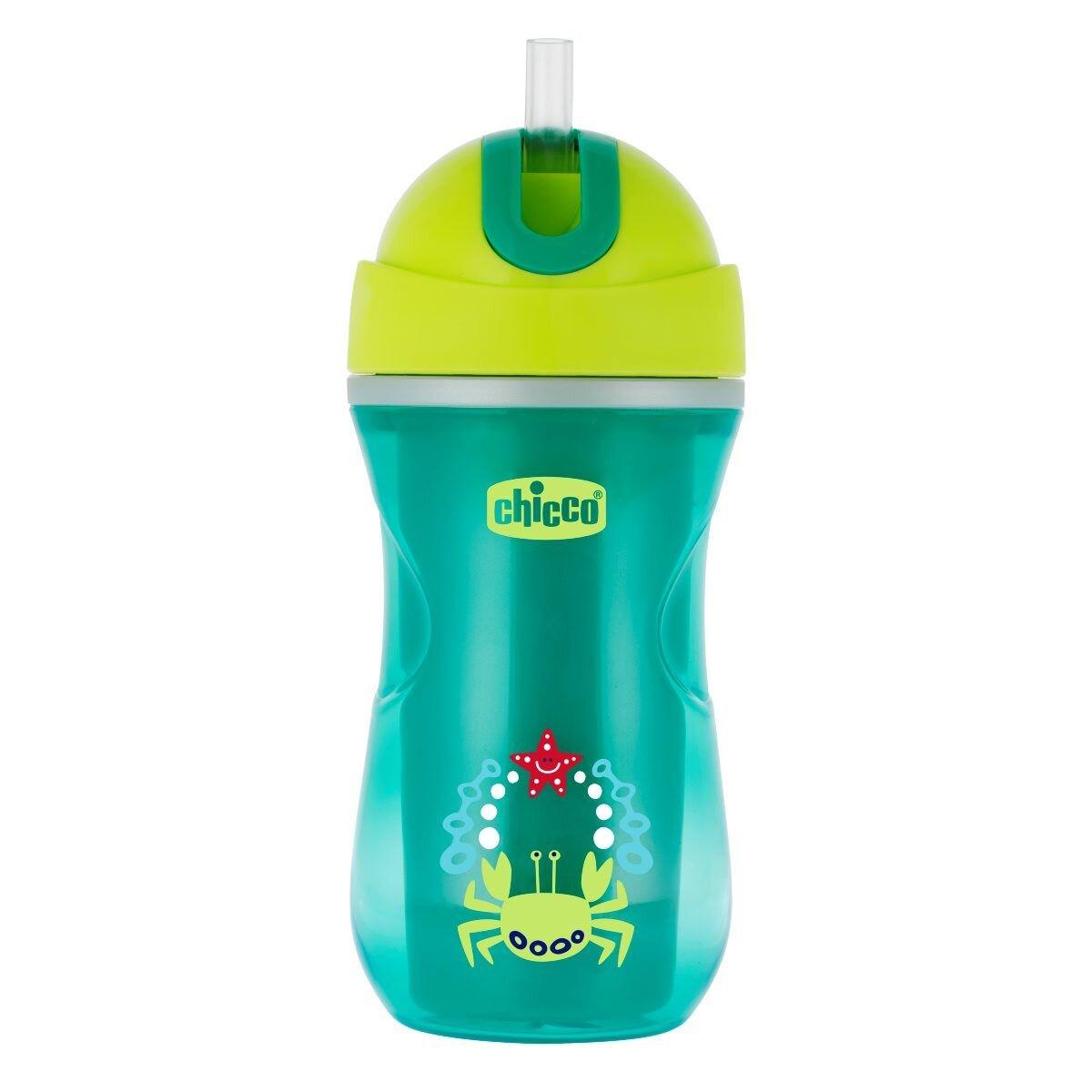 Hrnček Chicco Sport so slamkou zelený 266 ml eb4b88f1e8b